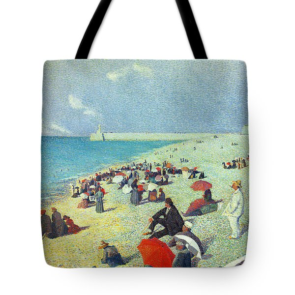 On The Beach Tote Bag by Leon Pourtau
