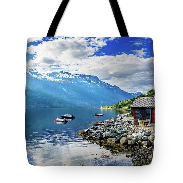 Tote Bag featuring the photograph On The Beach Of Sorfjorden by Dmytro Korol