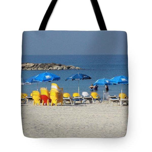 On The Beach-tel Aviv Tote Bag