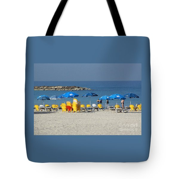 On The Beach-tel Aviv Tote Bag