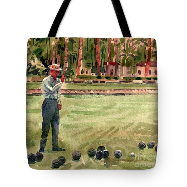 On The Bowling Green Tote Bag by Donald Maier