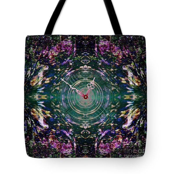 On The Clock Of Rose Garden Tote Bag