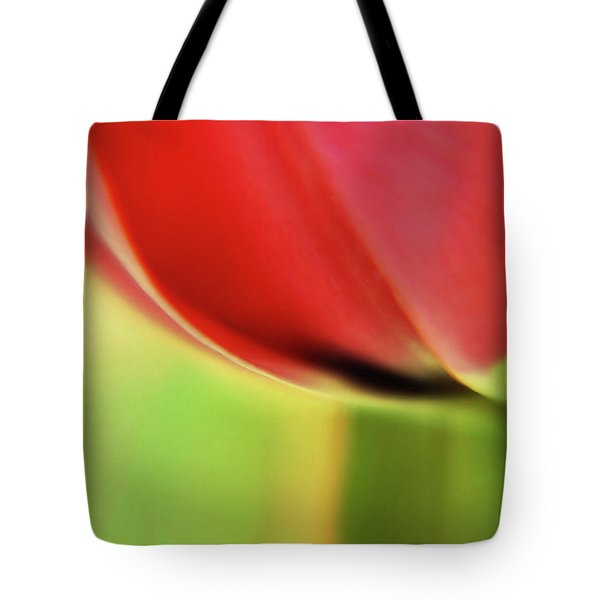 Tote Bag featuring the photograph  Tulip's  Edge by Elaine Manley