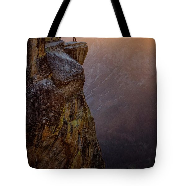 On The Edge Tote Bag by Nicki Frates