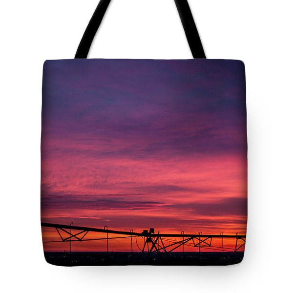 Tote Bag featuring the photograph On The Farm by Tyson Kinnison