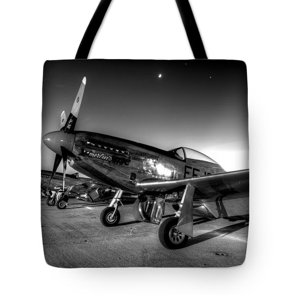 Tote Bag featuring the photograph On The Flight Line by John King