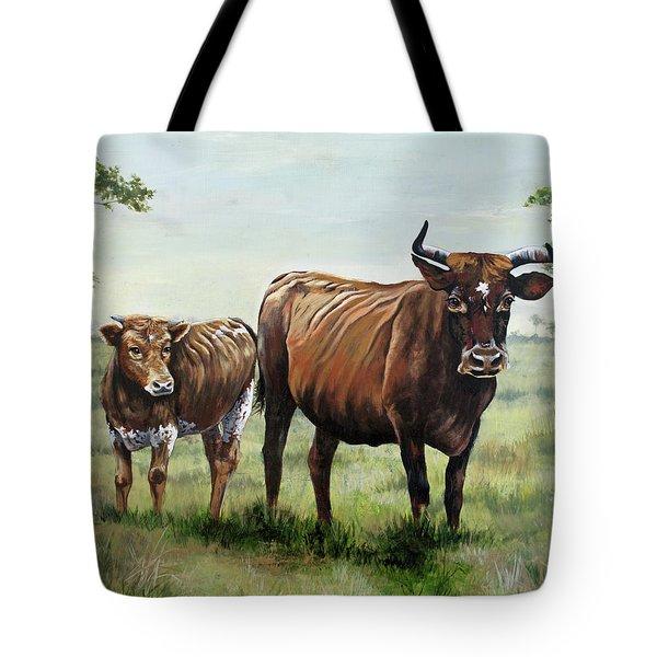 On The Florida Prairie Cracker Cattle Tote Bag