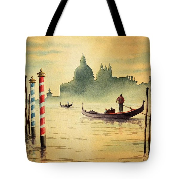On The Grand Canal Venice Italy Tote Bag by Bill Holkham