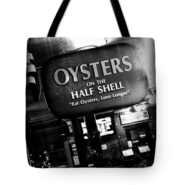 On The Half Shell - Bw Tote Bag