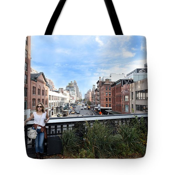 On The Highline Overlooking Chelsea Tote Bag