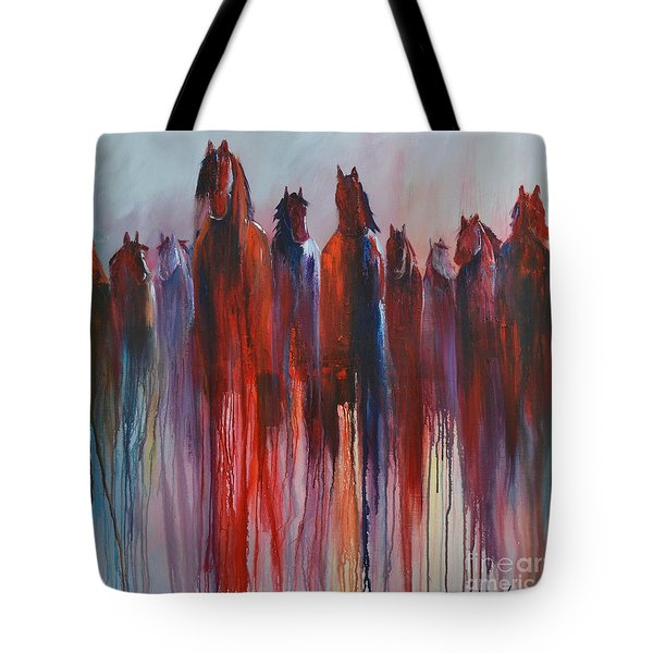 Tote Bag featuring the painting On The Horizon by Cher Devereaux