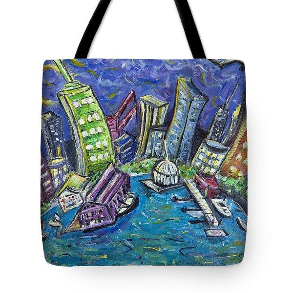 On The Hudson Tote Bag by Jason Gluskin