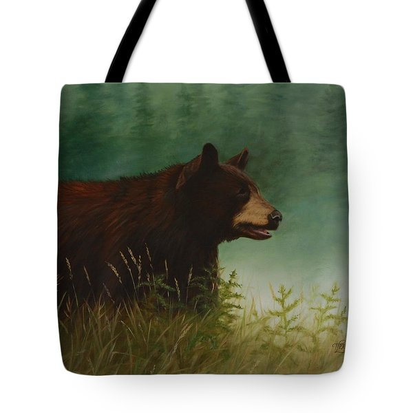 Tote Bag featuring the painting On The Hunt by Tammy Taylor