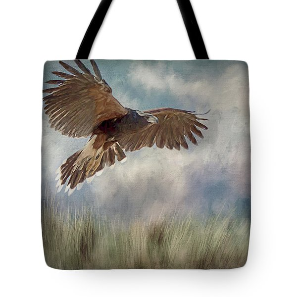 Tote Bag featuring the digital art On The Hunt by Teresa Wilson