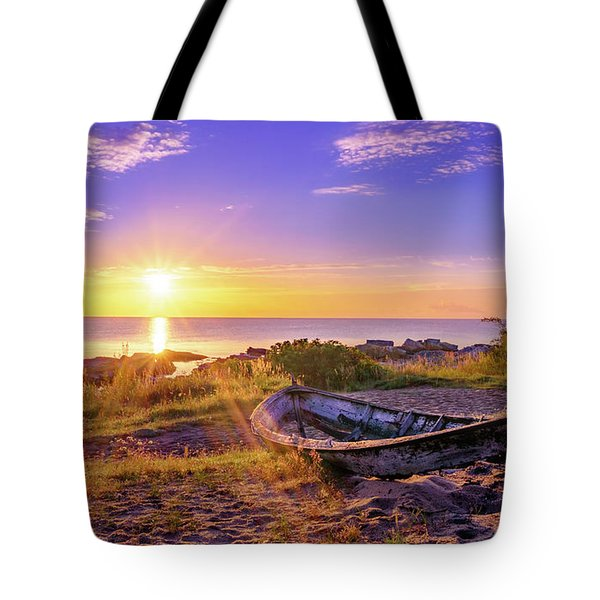 Tote Bag featuring the photograph On The Last Shore by Dmytro Korol