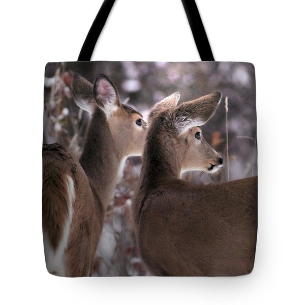 On The Look Out Tote Bag by Loni Collins