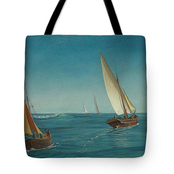 On The Mediterranean  Tote Bag by Albert Bierstadt