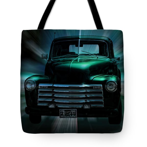 On The Move Truck Art Tote Bag