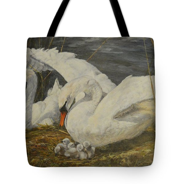 On The Nest Tote Bag by Beatrice Cloake
