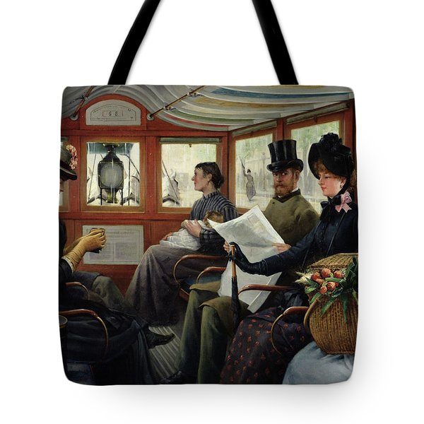 On The Omnibus Tote Bag by Maurice Delondre