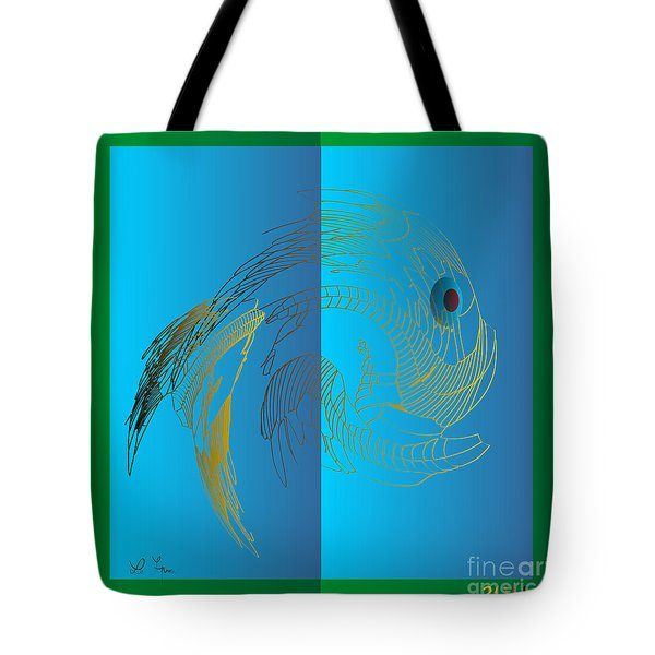 Tote Bag featuring the digital art On The Page 2015 by Leo Symon