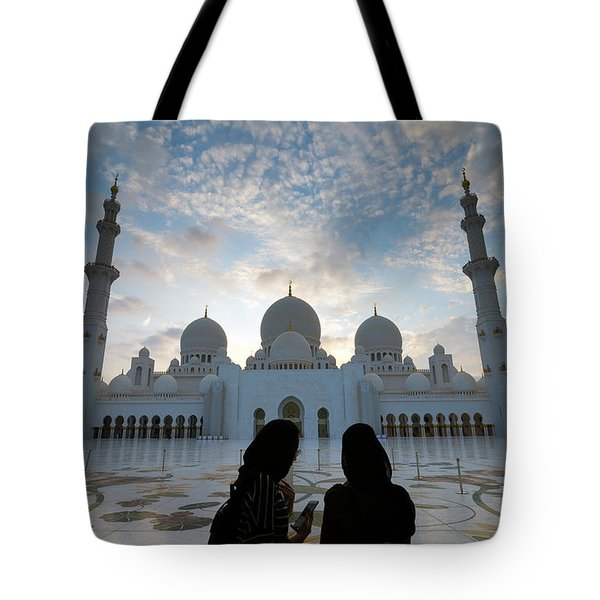 On The Phone Tote Bag