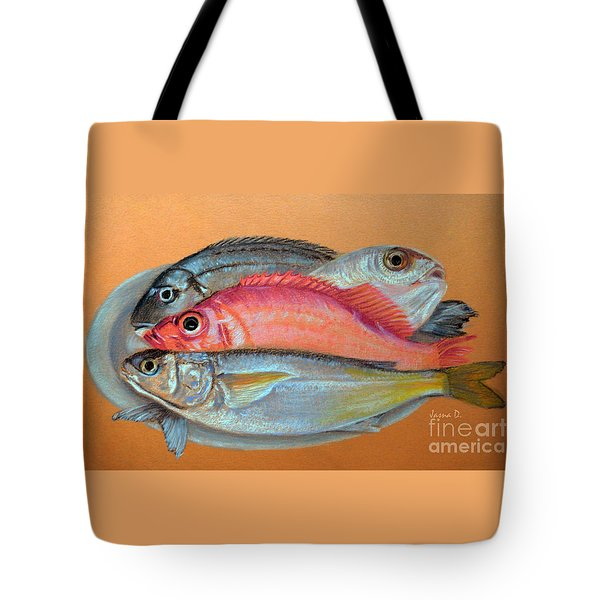 On The Platter Tote Bag by Jasna Dragun