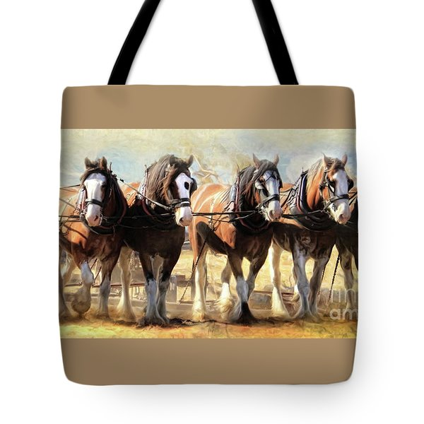 Tote Bag featuring the digital art  On The Plough by Trudi Simmonds