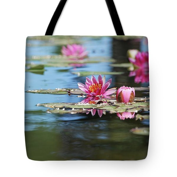 Tote Bag featuring the photograph On The Pond by Amee Cave