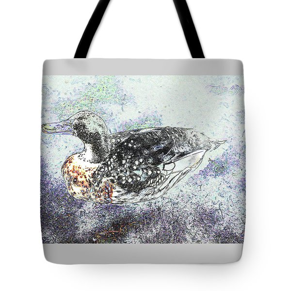 Tote Bag featuring the photograph On The Pond by Nareeta Martin