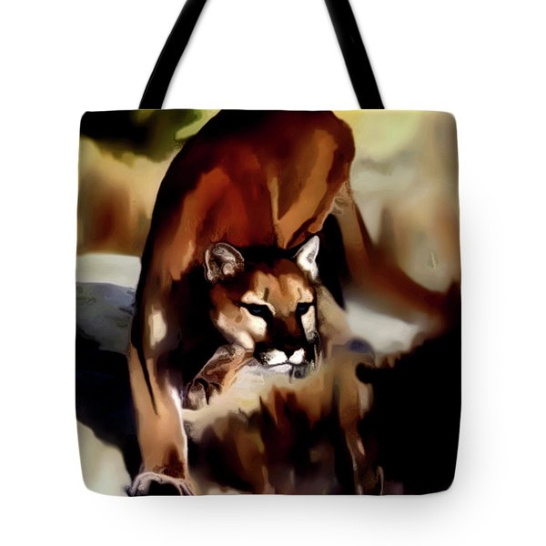 On The Prowl Tote Bag by Vic Weiford