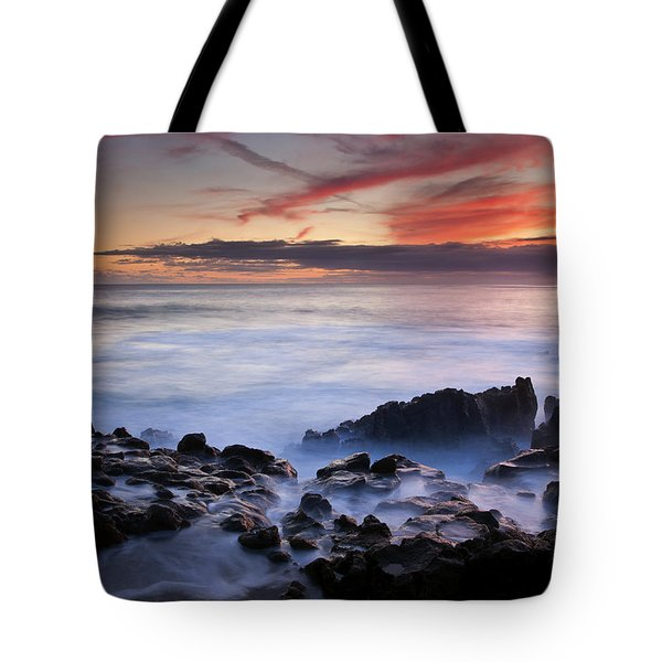 On The Red Rocks Tote Bag by Mike  Dawson