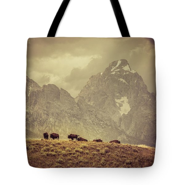 On The Ridge Tote Bag by Mary Hone