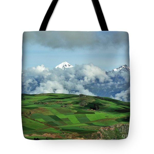 On The Road From Cusco To Urubamba Tote Bag by Michele Penner