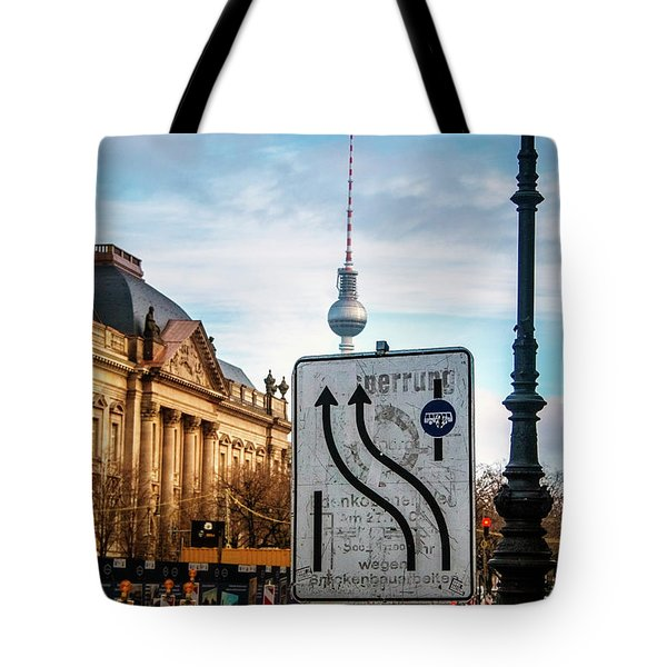 On The Road In Berlin Tote Bag by Ana Mireles
