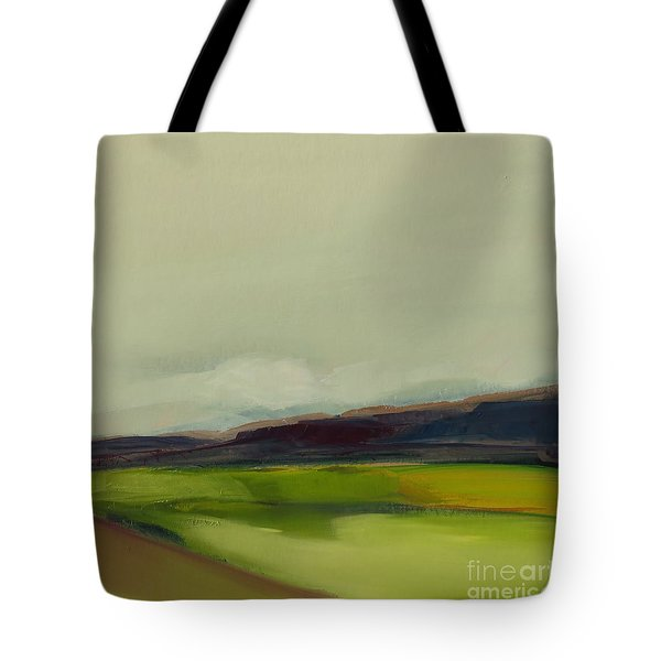 Tote Bag featuring the painting On The Road by Michelle Abrams
