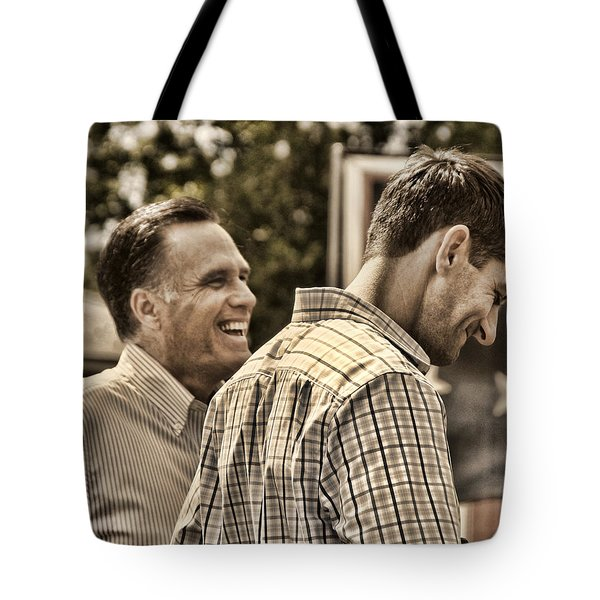 On The Road-mitt Romney Tote Bag by Joann Vitali