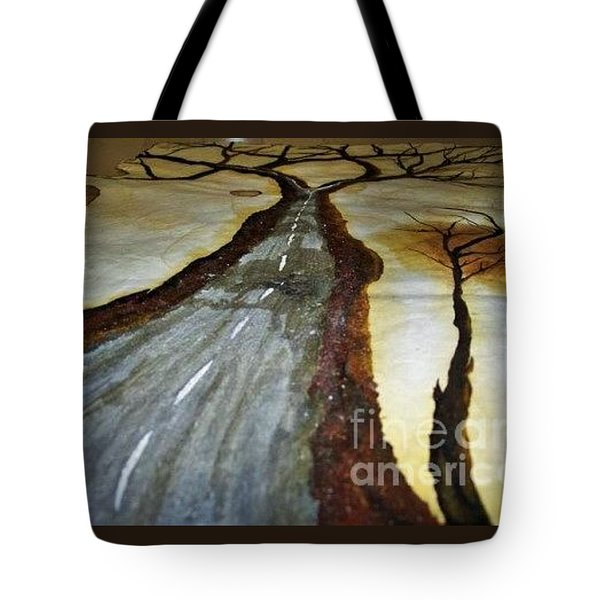 On The Road Of The Tree Of Life Tote Bag