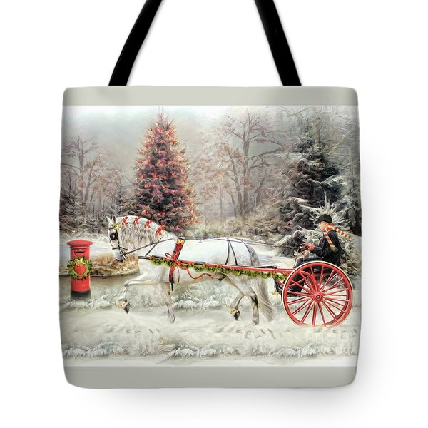 On The Road To Christmas Tote Bag