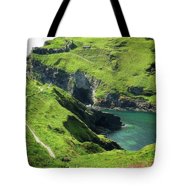 Tote Bag featuring the photograph On The Road To Tintagel by Connie Handscomb