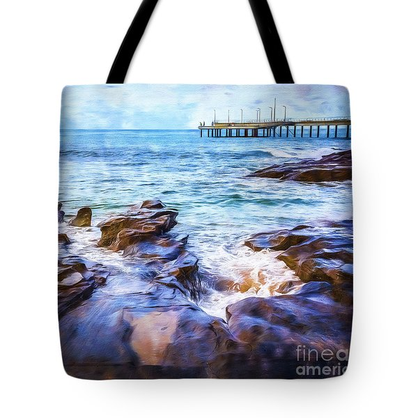 Tote Bag featuring the photograph On The Rocks by Perry Webster