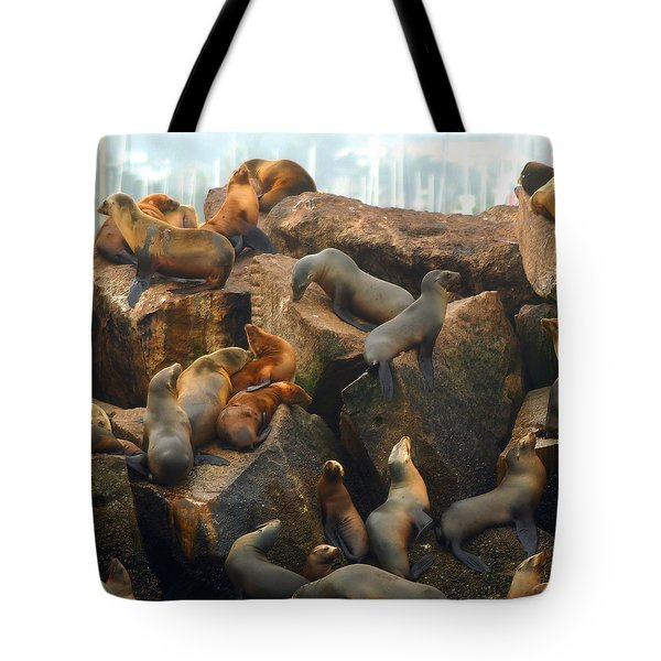 On The Rocks - Squared Tote Bag