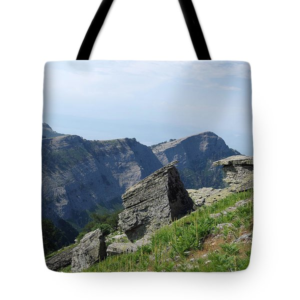 On The Rocky Path Tote Bag