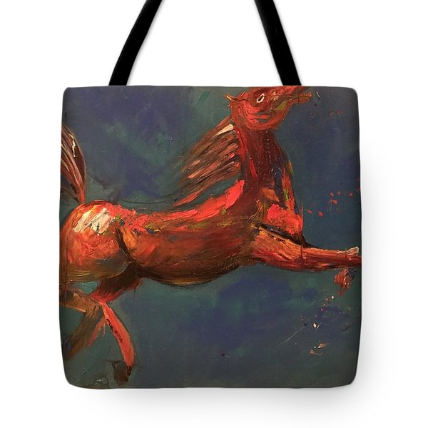 On The Run - Horse Tote Bag by Rami Besancon