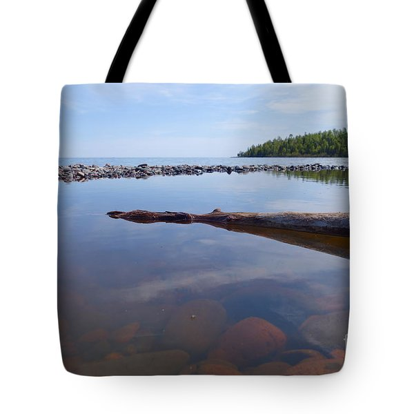 Tote Bag featuring the photograph On The Shore Of Lake Superior by Sandra Updyke