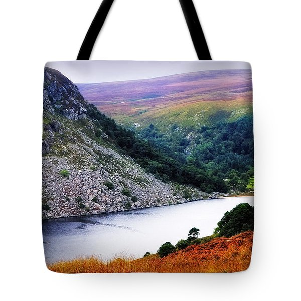 On The Shore Of Lough Tay. Wicklow. Ireland Tote Bag