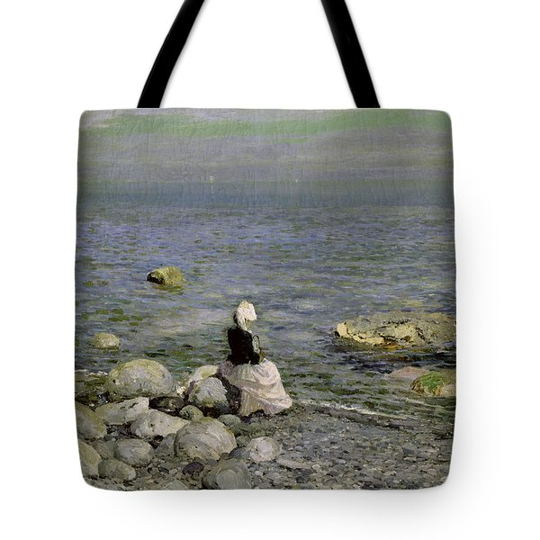 On The Shore Of The Black Sea Tote Bag by Konstantin Alekseevich Korovin
