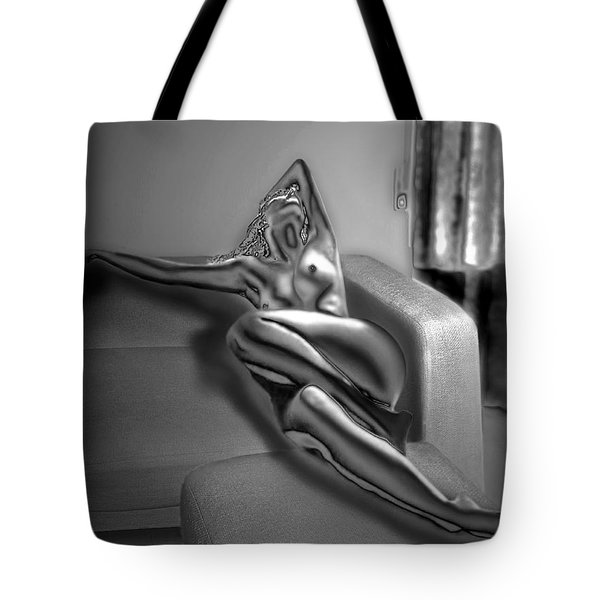 On The Sofa Tote Bag by Emada Photos