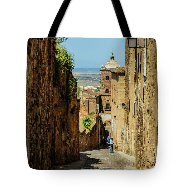 On The Streets Of Caceres Tote Bag