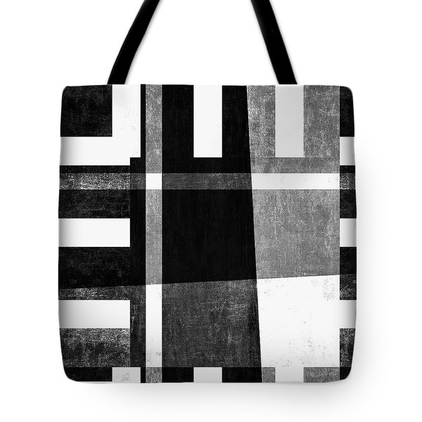 Tote Bag featuring the photograph On The Tarmac Designer Series 13a04bw by Carol Leigh